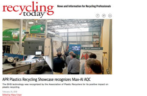 Recycling Today APR Innovation Award Max-AI